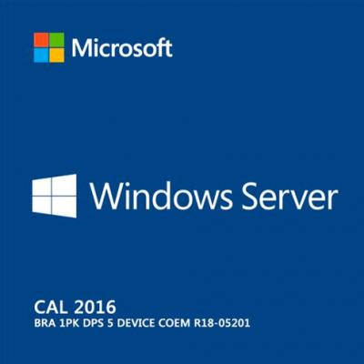 Windows Server Cal 2016 Bra 1PK DPS 5 Device COEM R18-05201